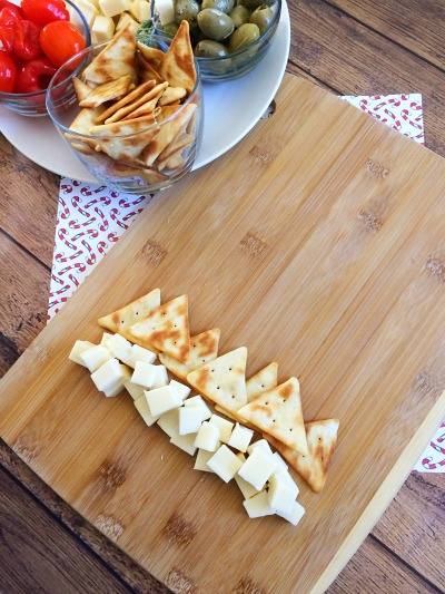 Christmas Tree Cheese Platter Step 5