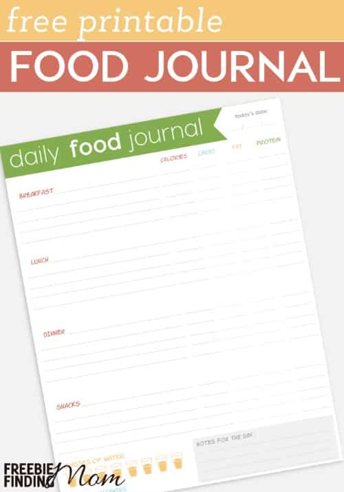 Trying to shed those pesky pounds? The best way to get started losing weight is to track your eating, so you can see exactly how much and what kinds of foods you are consuming. This Free Printable Food Journal will help you record your daily food intake along with nutritional content for each food, monitor your water intake, and remind you to take your vitamin.