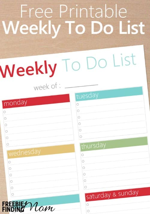Feeling overwhelmed with all the things you have to do? Download this FREE Printable Weekly To Do List to help you get organized. Simply write down each day's six most important tasks and check them off as you finish each one, then BOOM! You'll be feeling super proud and successful in no time.