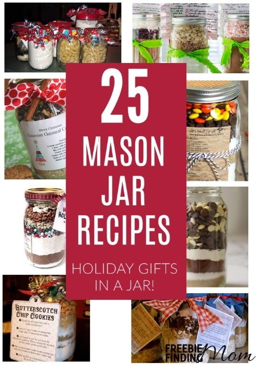 Mason jar recipes make thoughtful, inexpensive gifts in a jar that are perfect for friends, teachers, babysitters, and mail people. Be inspired by these recipes in jars for cookies, brownies, soups, pancakes, and more.