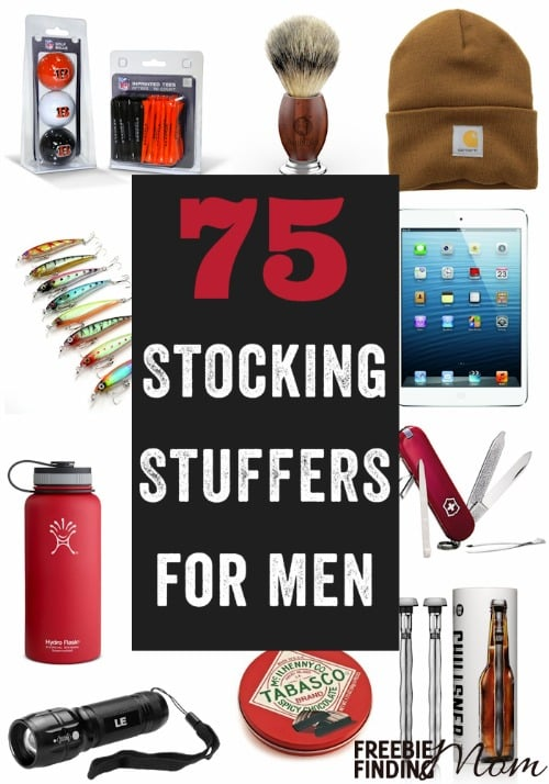 75 stocking stuffers for men Christmas present ideas for 20 year old boyfriend