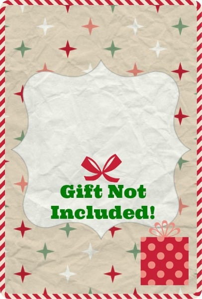 Ridiculous image within gift not included printable