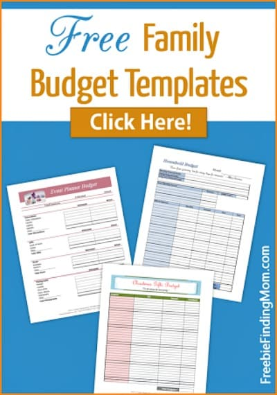 Free Family Budget Template Printables