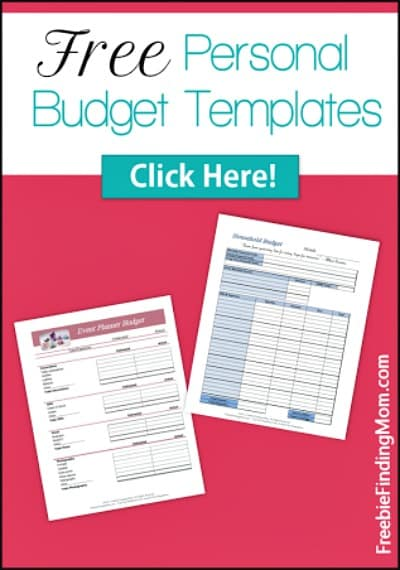 Free Personal Budget Template Printables