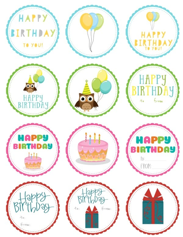 Free printable birthday gift tags negle Image collections