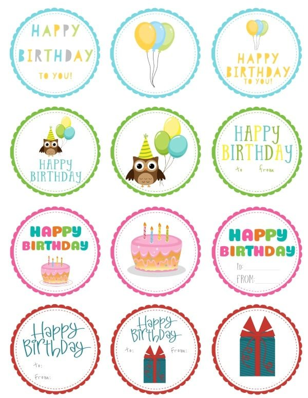 graphic about Birthday Tag Printable named Free of charge Printable Birthday Present Tags