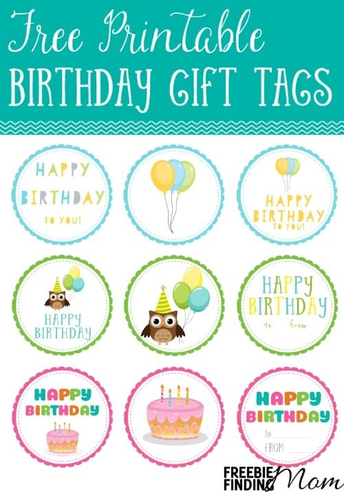 I love these Free Printable Birthday Gift Tags! They are so cute! No more wasting money on expensive gift tags that will be trashed in minutes, print one of these 12 cute designs, cut it out, write who the gift is for and from, then attach it to your present.