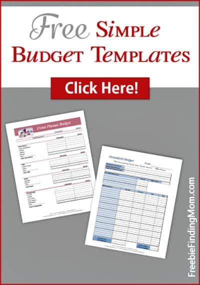 Free Simple Budget Template Printables