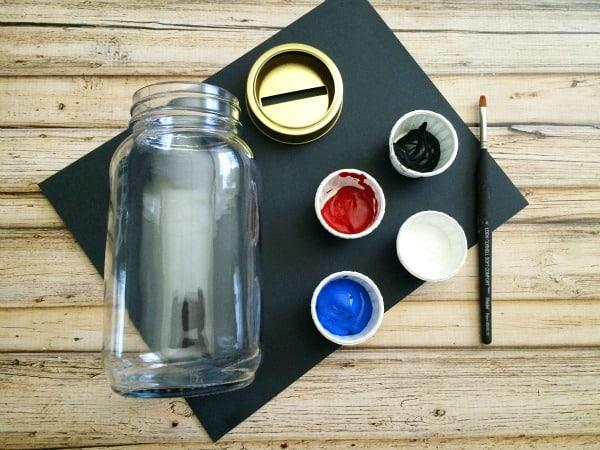 R2-D2 Mason Jar Piggy Bank - DIY Gift in a Jar for Kids Materials