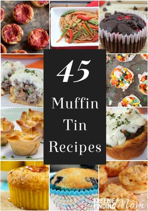 Who says muffin tins are just for muffins? Not this mom! Here are 45 muffin tin recipes that make great school lunch ideas for kids, toddler meal ideas for your picky eater, and will help with portion control if you are trying to lose weight.