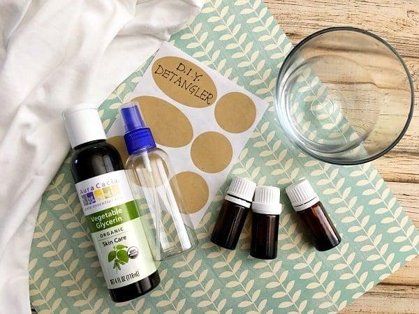DIY Hair Detangler for Natural Hair Ingredients