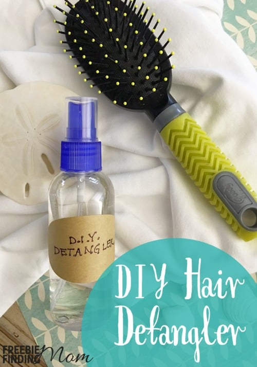 Want to shave your or your kids' hair off because you are so frustrated with tangles? Rather than resort to drastic measures, take 2 minutes and a handful of ingredients to make this easy DIY hair detangler for natural hair. There are no chemicals or unpronounceable ingredients in this homemade beauty product, just water, three essential oils and vegetable glycerin.