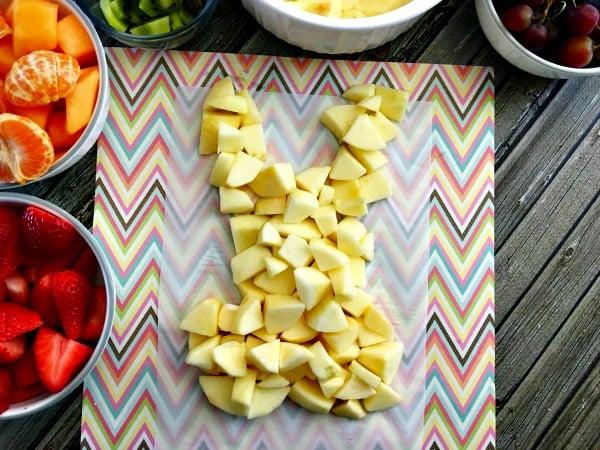 Easter fruit arrangement step 6