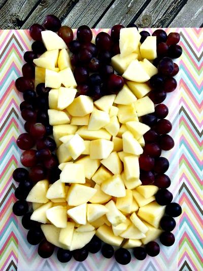 Easter fruit arrangement step 7
