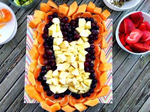 Easter fruit arrangement step 9
