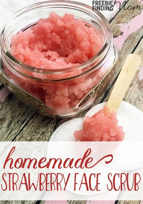 Strawberry scrub by Freebie finding mom