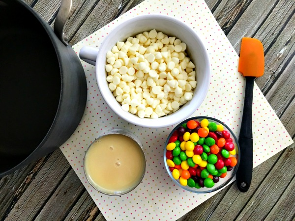 How to Make Skittles Fudge Ingredients