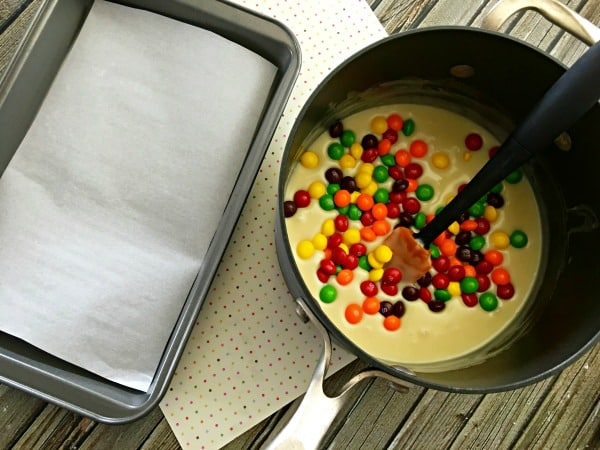 How to Make Skittles Fudge Step 4