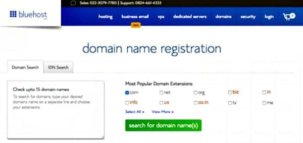 domain name registration to promote where to start a blog