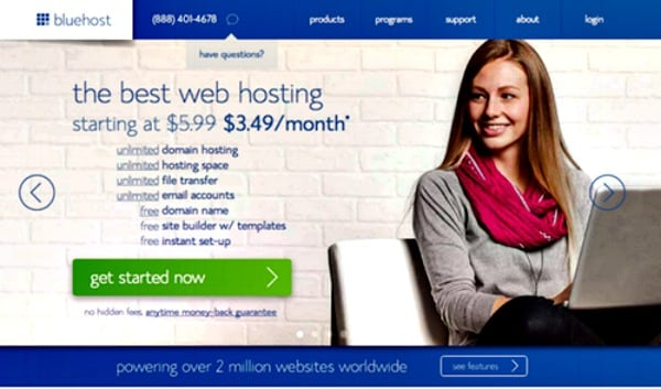 where to start a blog Bluehost 2