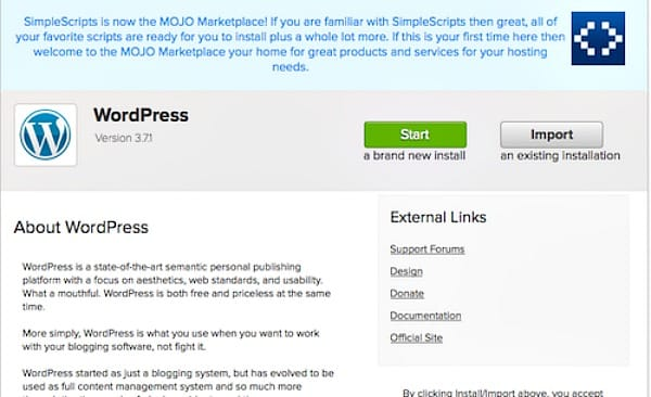 where to start a blog WordPress 1