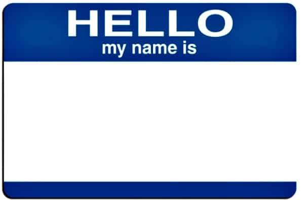 name tag to promote how and where to start a blog