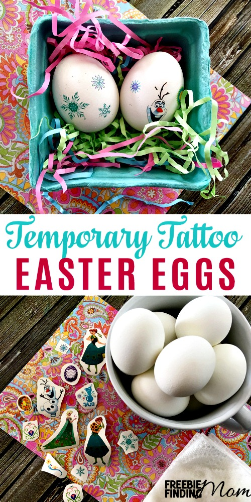 Want a no mess, easy egg decorating idea? Use temporary tattoos to keep the cleanup small, but the fun big! Forget the traditional method of Easter egg decorating using food coloring and dyes, this year make temporary tattoo Easter eggs using your kids' favorite characters, animals, and more.