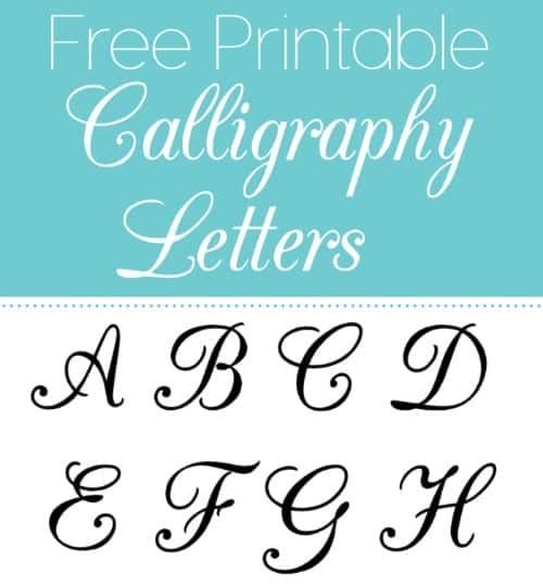 Stupendous image within calligraphy printable