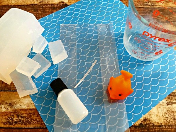 Fun party favors for kids fish soap materials