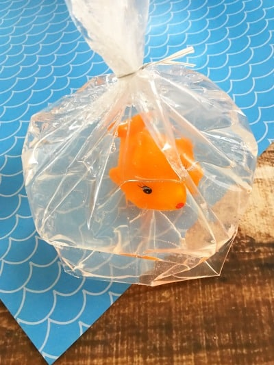 Fun party favors for kids fish soap step 12