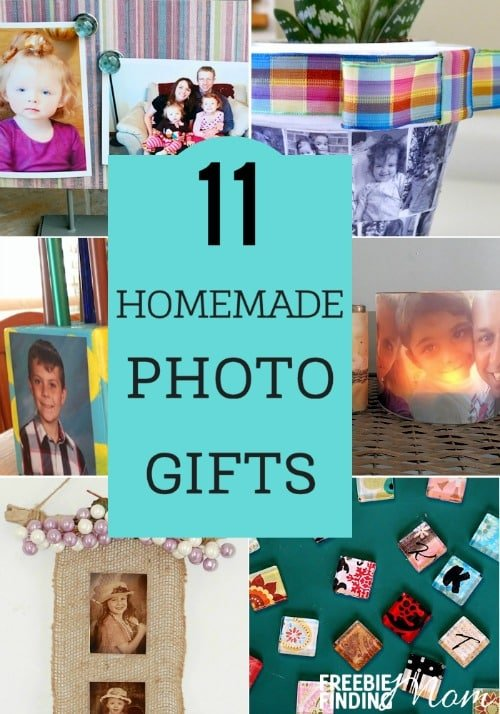 Do you need easy, thoughtful handmade gift ideas for family and friends? These 11 homemade photo gifts will provide the inspiration you need to craft one of a kind, memorable gifts that will be cherished for years. They make great homemade Christmas gifts, birthday presents, Mother's Day gifts, Father's Day gifts, Grandparents Day gifts, and Valentine's and anniversary gifts.