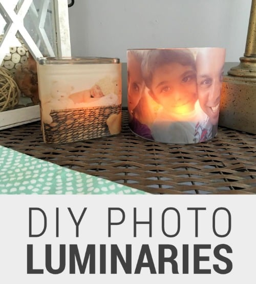Diy Gift Idea Day Teacher Home Art Decor: Easy Homemade Photo Gifts: Glowing Photo Luminaries