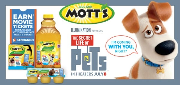 DPSG Mott's Secret Life of Pets - Walmart - June 2016 promotional posts image