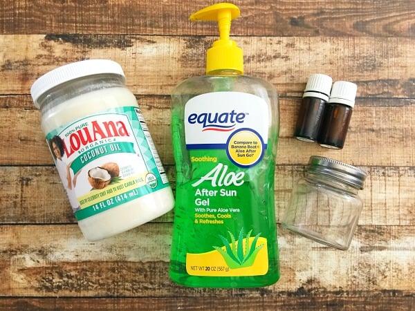 Homemade Sunburn Relief Cream Materials