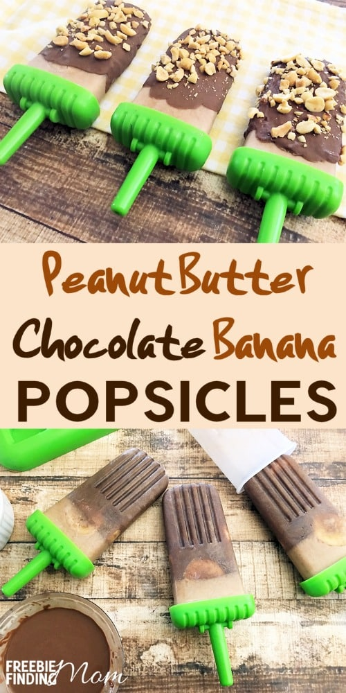 Who said homemade popsicles have to be boring? This peanut butter and chocolate covered banana pops recipe is loaded with chocolatey goodness and covered with crushed peanuts. If you are a fan of Ben & Jerry's Chunky Monkey ice cream, you have to try these yummy popsicles. They are the perfect summer recipe.