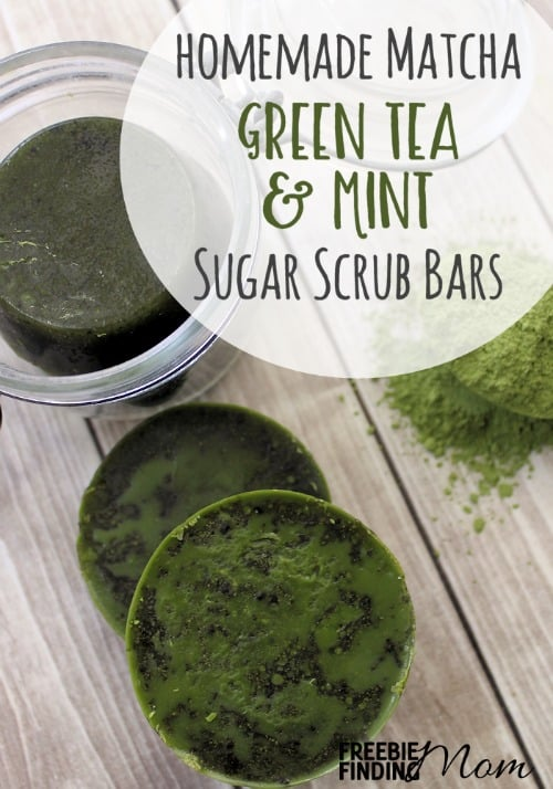 Want to treat your skin to a well-deserved pampering? These All Natural Homemade Matcha Green Tea and Mint Sugar Scrub Bars will gently exfoliate and clean your skin, leaving your skin feeling hydrated, smooth and soft plus your skin will get to reap all the green tea beauty benefits as well. You can customize this easy DIY recipe by substituting your favorite essential oils. These DIY sugar scrub bars also make great DIY handmade gifts.