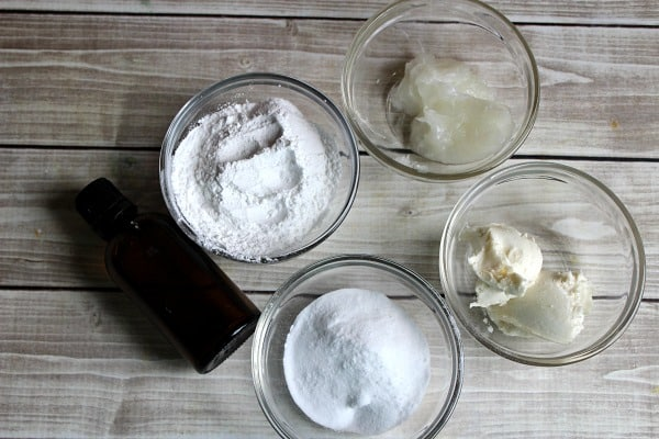 Homemade Natural Deodorant ingredients