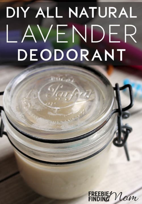 Want an all-natural way to keep yourself smelling fresh and pretty without spending big bucks at the store? Take a few minutes to whip up this homemade natural deodorant. Here you will learn how to make homemade deodorant in just four easy steps and with only a handful of ingredients. One ingredient in this homemade beauty product is lavender essential oil, so not only will you smell amazing but this homemade deodorant will aid in relaxation as well.