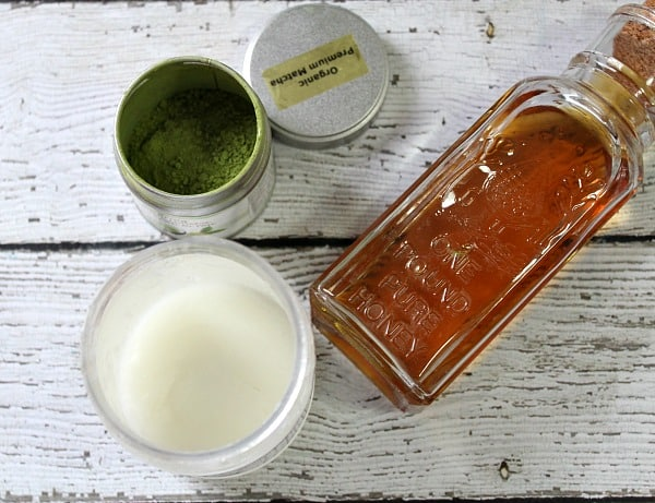 DIY Green Tea Face Mask ingredients