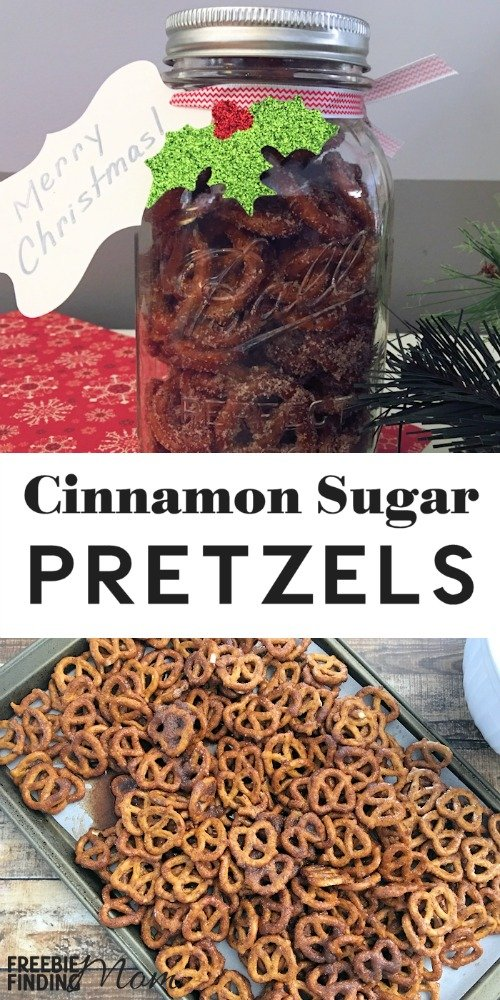 Are you a fan of sweet and salty snacks? Then you have to try this Cinnamon Sugar Pretzel Recipe. This easy recipe takes only minutes to whip up and tastes amazing plus it is perfect for the holidays. Whether you are serving these pretzels at a Christmas party, loading them into Mason jars for easy DIY gift giving or just making a batch to satisfy your cravings, this sweet treat is sure to be a hit.