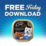 Kroger FREE Friday Download: One Cesar® Premium Wet Food for Dogs (October 28 Only)