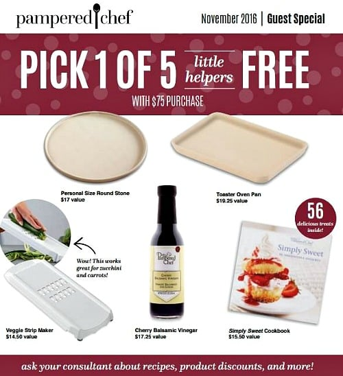 Pampered chef cyber monday awesomeness free shipping on for Gift with purchase ideas
