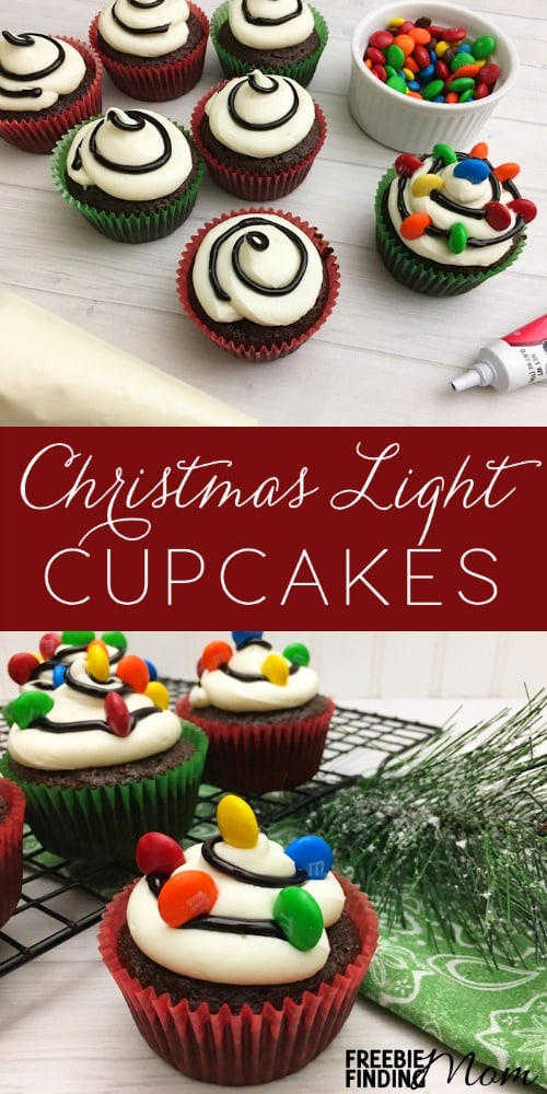 Christmas Cupcake Idea Christmas Light Cupcakes