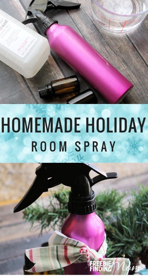 How would you like to fill your home with the smell of the holidays but without all the harmful chemicals? Simply take a few minutes and a handful of ingredients to whip up this DIY scented room spray. Here are five all natural recipes to inspire you. Choose from the aroma of real wreaths and Christmas trees, the scent of baking cookies, the crisp smell of peppermints, or feel free to customize your own. These essential oil Holiday Room Sprays make great homemade gifts too!