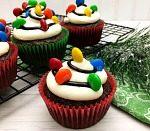 Christmas Cupcake Idea: Christmas Light Cupcakes