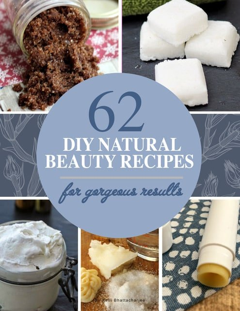 Book cover for 62 DIY natural beauty recipes for gorgeous results