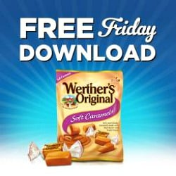Kroger free Friday download banner to promote free Werther's Original