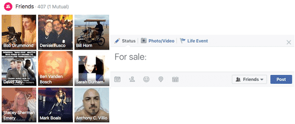 How to sell on Facebook to family and friends