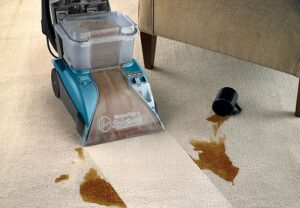 Hoover Carpet Cleaner SteamVac in use on carpet