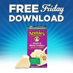 Kroger free Friday download for free Annie's Homegrown Natural Macaroni & Cheese